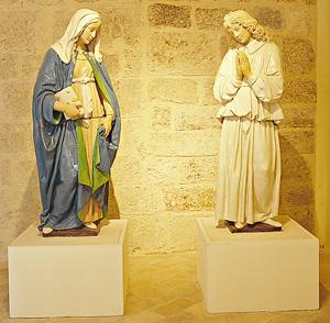 Vergine annunciata e Angelo annunciante, museo civico e diocesano La Castellina